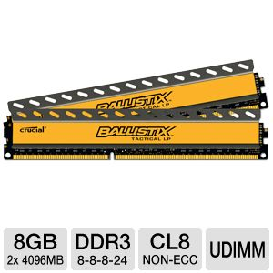 Crucial Ballistix Tactical 8GB Memory Module Kit