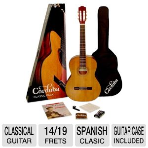 Cordoba Spanish Classic Classical Guitar Pack