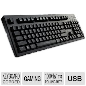 Cooler Master Storm QuickFire Pro Keyboard - USB 2.0 Interface, 6/Full N Key, 1000HZ/1ms Polling Rate, 5' ft Cable Length, Cherry Brown Switch