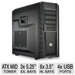 CoolerMaster HAF XM Mid Tower Case 2x USB 3.0