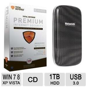 Matsunichi 1TB Portable External Hard Drive Bundle