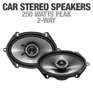 Clarion SRG5721C Custom Fit Car Stereo Speakers