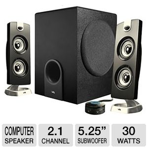 Cyber Acoustics CA-3602 Platinum Series Speakers 