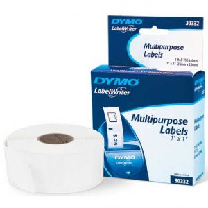 "Dymo White Multi Purpose 1"" x 1"" 750 Labels"