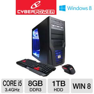 CyberPowerPC Core i5 1TB HDD 8GB DDR3 Gaming PC