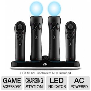 CTA Quadruple Port Charging Station for PS3 Move