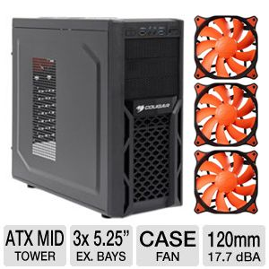 Cougar Steel Gamer Case & 120mm Case Fan Bundle