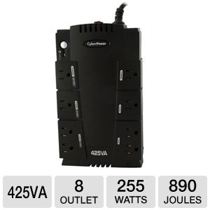 CyberPower 425VA Standby Series 8 Outlet UPS