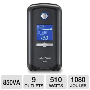 CyberPower CP850AVRLCD UPS Battery Backup