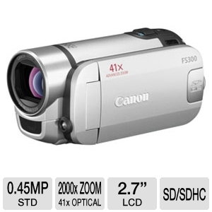 Canon FS300 4400B001 Flash Memory Camcorder