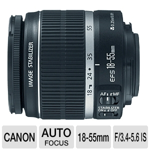 Canon EF-S 18-55mm f/3.5-5.6 IS Autofocus Lens