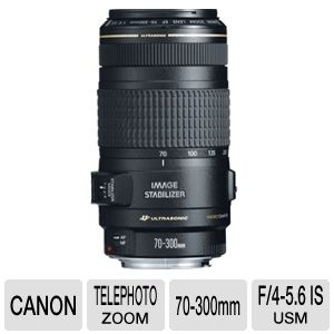 Canon EF 70-300mm f/4-5.6 IS USM Telephoto Zoom Le