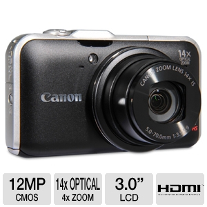 Canon SX230 HS Black 12MP Digital Camera