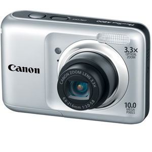 "Canon A800 5027B005 PowerShot Digital Camera - 10 Megapixels, CCD Sensor, 3.3x Optical Zoom, 4x Digital Zoom, 2.5"" LCD, Silver"