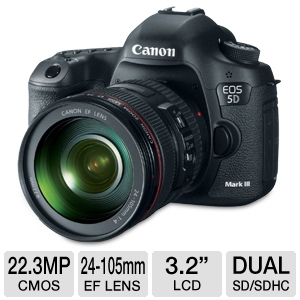 Canon EOS Mark III DSLR Camera and 24-105mm Lens