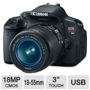 Canon EOS Rebel T4i DSLR Camera with 18-55mm Lens