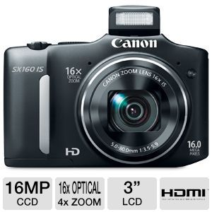 16.0 MEGAPIXEL POWERSHOT(R) SX160IS DIGI