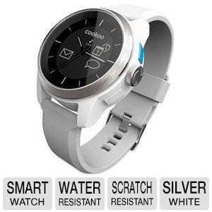 COOKOO Bluetooth Silver on White Smart Watch