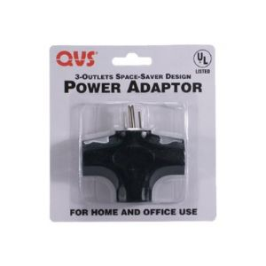 QVS Space-Saver Grounded Power Outlet Splitter