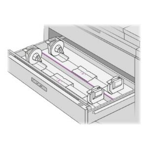HP media drawer and tray - 2 rolls