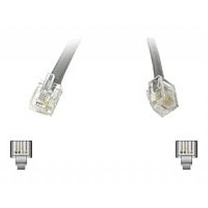 C2G Modular - phone cable - 7 ft - silver
