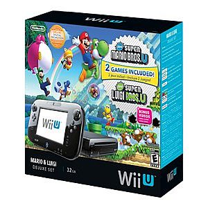 Nintendo Wii U - Mario and Luigi Deluxe Set - game
