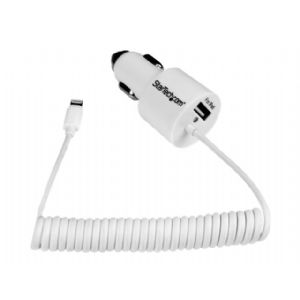 StarTech.com Dual Port Car Charger with Apple