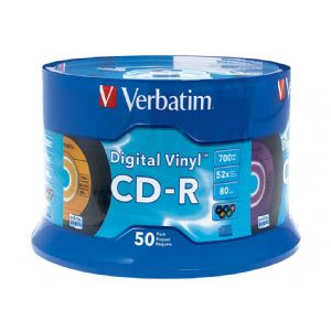 VERBATIM DIGITAL VINYL 50-PK   CDR SPINDLE - MULTI