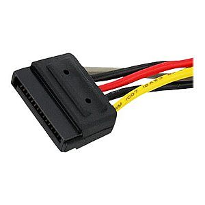 StarTech.com 6in SATA Power Y Splitter Cable