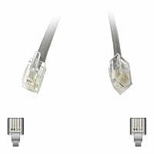 C2G Modular - phone cable - 50 ft - silver