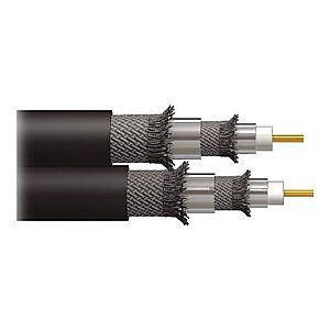 C2G Dual RG6/U Quad Shield In Wall Coaxial Cable