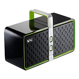 BLUETOOTH(R) 2.0 SPEAKER (BLACK/GREEN)