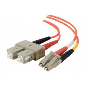 C2G LC-SC 50/125 OM2 Duplex Multimode Fiber Optic