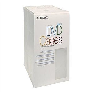 25PK DVD SLIM VIDEO MOVIE CASES