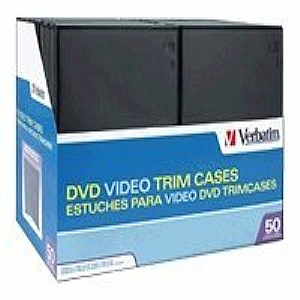 50PK CD/DVD VIDEO TRIMCASE