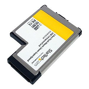 StarTech.com 2 Port Flush Mount ExpressCard 54mm