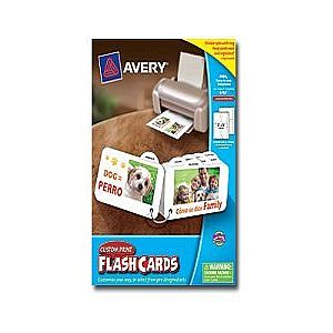 Avery Custom Print Flash Cards - matte coated