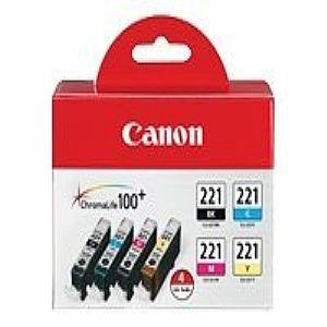 Canon CLI-221 Four Color Pack - ink tank - black,