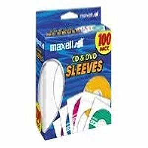 WHITE CD/DVD SLEEVES 100PK