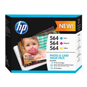 HP 564 Photo and Card Value Pack - 3-pack