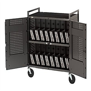 NB COMPUTER CART FOR 32-NETBOOKS SLVR