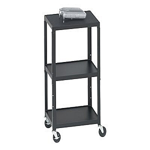 AV CART ADJ 26X42IN-W/ CASTERS AND ELECT