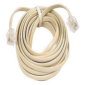 12FT MODULAR PATCH CORD-RJ11 M/M IVORY