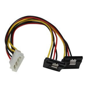 StarTech.com LP4 to 2x Right Angle Latching SATA
