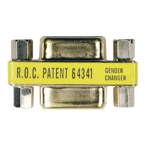 COMPACT GOLD GENDER-CHANGER DB9F/F