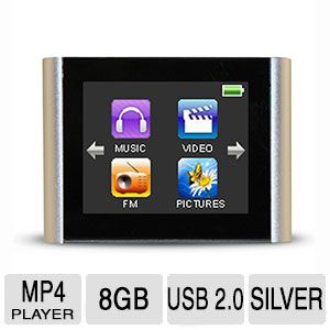 "Eclipse V180 8GB MP4 Player - 1.8"" Display, Touchscreen, Silver - ECLIPSE-V180 SL"