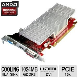 Diamond Radeon HD 5450 1GB GDDR3 PCIe Video Card