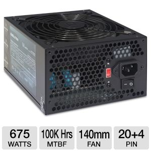 DiabloTek UL Series ATX 675W Power Supply
