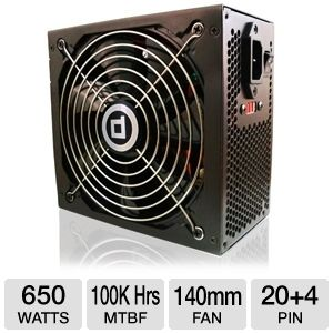 DiabloTek PHD650 ATX 650W Power Supply