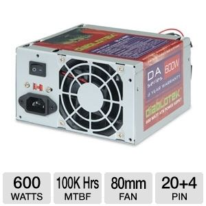 Diablotek PSDA600 DA Series 600W ATX Power Supply